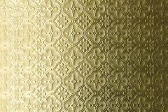 Teste padrão dourado Fotografia de Stock