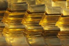 Teste padrão dourado Fotos de Stock Royalty Free