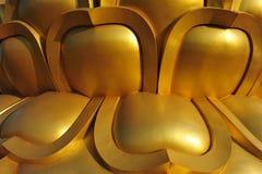 Teste padrão dourado Imagens de Stock Royalty Free