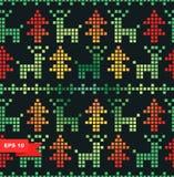 Teste padrão estilizado sem emenda do xmas Imagens de Stock Royalty Free