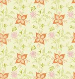 Teste padrão floral abstrato SEM EMENDA Fotos de Stock Royalty Free