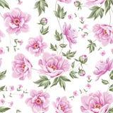 Teste padrão floral da telha Fotos de Stock