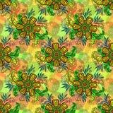 Teste padrão floral da telha sem emenda Fotografia de Stock Royalty Free