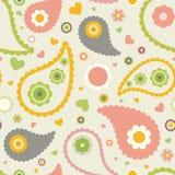 Teste padrão floral das crianças Fotos de Stock