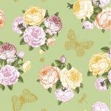Teste padrão floral do vintage do vetor sem emenda Foto de Stock