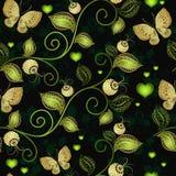 Teste padrão floral escuro sem emenda Foto de Stock