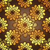 Teste padrão floral escuro sem emenda Imagem de Stock Royalty Free