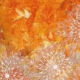 Teste padrão floral na pintura da pintura de óleo Foto de Stock Royalty Free