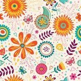 Teste padrão floral sem emenda bonito Vetor Imagem de Stock Royalty Free