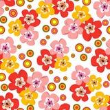 Teste padrão floral sem emenda da mola Imagem de Stock