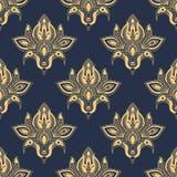 Teste padrão floral sem emenda do damasco delicado Fotos de Stock Royalty Free