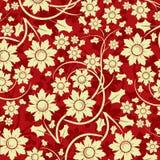 Teste padrão floral, vetor Fotos de Stock Royalty Free