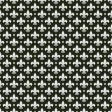 Teste padrão francês da flor de lis do vetor preto & branco Foto de Stock