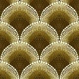 Teste padrão geométrico pontilhado no estilo do art deco Foto de Stock