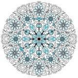 Teste padrão redondo do vintage laçado floral Fotos de Stock