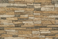 Teste padrão moderno de superfícies decorativas da parede de pedra Fotos de Stock Royalty Free