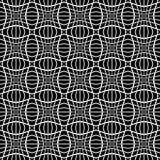 Teste padrão monocromático abstrato com o mosaico de quadrados distorcidos de Fotografia de Stock
