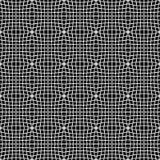 Teste padrão monocromático abstrato com o mosaico de quadrados distorcidos de Imagem de Stock