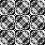 Teste padrão monocromático abstrato com o mosaico de quadrados distorcidos de Imagens de Stock