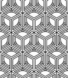 Teste padrão monocromático contínuo Illusive, parte traseira decorativa do sumário Imagem de Stock