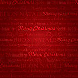 Teste padrão multilingue sem emenda do Natal () Imagem de Stock Royalty Free