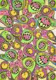 Teste padrão natural colorido estilizado Fotografia de Stock Royalty Free