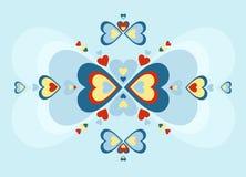 Teste padrão popular do coração Imagens de Stock