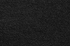 Teste padrão preto da textura do fundo da tela da flanela de lãs de Cout do terno do vintage, grande close up macro Textured hori Fotos de Stock