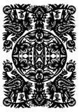 Teste padrão preto decorativo Foto de Stock Royalty Free