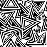 Teste padrão preto sem emenda do triângulo Fotos de Stock