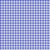 Teste padrão quadriculado sem emenda do guingão - azul e branco Fotografia de Stock Royalty Free