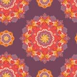 Teste padrão redondo decorativo do laço. vetor Fotografia de Stock Royalty Free