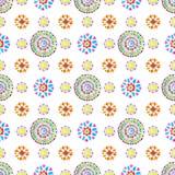 Teste padrão retro da aquarela de formas geométricas Fotos de Stock