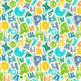 Teste padrão retro do alfabeto Fotografia de Stock Royalty Free
