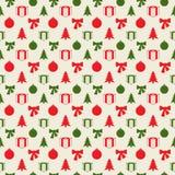 Teste padrão retro do Natal Foto de Stock