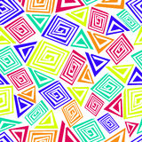 Teste padrão sem emenda abstrato feito de elementos coloridos Fotos de Stock Royalty Free