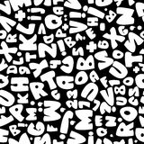 Teste padrão sem emenda branco do alfabeto inglês Foto de Stock