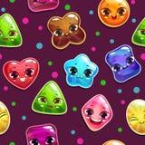 Teste padrão sem emenda com caráteres dos doces Imagem de Stock Royalty Free
