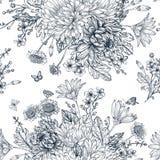 Teste padrão sem emenda com flores do verão Fotos de Stock