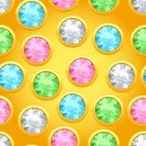 Teste padrão sem emenda com joias redondas Fotografia de Stock