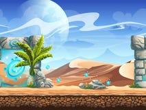 Teste padrão sem emenda com Palm Desert e o portal mágico Foto de Stock Royalty Free