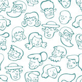 Teste padrão sem emenda com rostos humanos Imagem de Stock Royalty Free