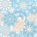 Teste padrão sem emenda da flor Imagens de Stock