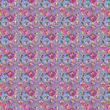 Teste padrão sem emenda da forma do diamante da folha da flor Fotos de Stock