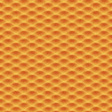 Teste padrão sem emenda da laranja das ondas Foto de Stock Royalty Free