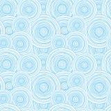 Teste padrão sem emenda da textura da água do círculo da garatuja Fotos de Stock Royalty Free