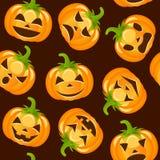 Teste padrão sem emenda das abóboras de Halloween Fotos de Stock Royalty Free