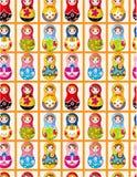 Teste padrão sem emenda das bonecas do russo Foto de Stock