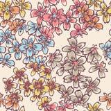 Teste padrão sem emenda das flores pequenas macias Foto de Stock Royalty Free