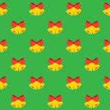 Teste padrão sem emenda de Bels de Natal Imagem de Stock